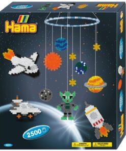Hama Bügelperlen Midi Geschenkpackung Weltraumabenteuer mit 2500 Perlen