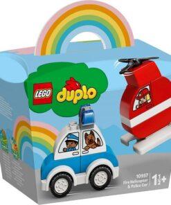 LEGO® DUPLO® Creative Play 10957 Mein erster Feuerwehrhubschrauber und mein erstes Polizeiauto