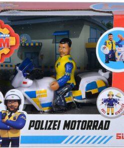 Simba Feuerwehrmann Sam Polizei Motorrad mit Figur