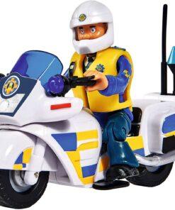 Simba Feuerwehrmann Sam Polizei Motorrad mit Figur1