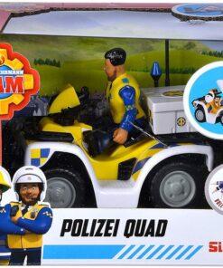 Simba Feuerwehrmann Sam Polizei Quad mit Figur