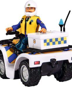 Simba Feuerwehrmann Sam Polizei Quad mit Figur1