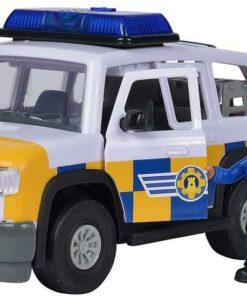Simba Feuerwehrmann Sam Polizeiauto 4x4 mit Malcom Figur